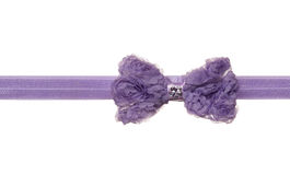 Violet ribbon bow Royalty Free Stock Images