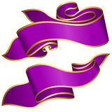 Violet ribbon collection Royalty Free Stock Images