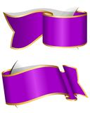 Violet ribbon collection Royalty Free Stock Photos