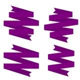 Violet Ribbons Set ilustración del vector
