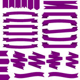 Violet Ribbons Set stock de ilustración