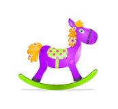 Violet rocking horse toy Royalty Free Stock Image