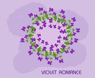 Violet romance Stock Photography