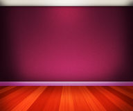 Violet Room. With Brown Floor Stock Photos