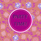 Violet Round  on seamless Print Royalty Free Stock Images