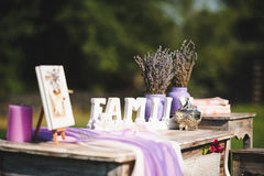 Violet Rustic Style Stock Image