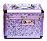 Violet safe box Royalty Free Stock Images