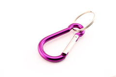 Violet safety hook Royalty Free Stock Photos