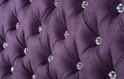 Violet sample of an upholstery of a sofa Stock Photography
