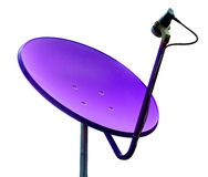 Violet satellite on whilte background Stock Images