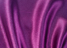 Violet satin fabric Stock Image