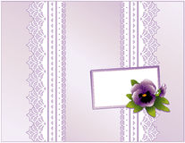 Violet Satin Gift box, Violet & Gift Card Royalty Free Stock Image