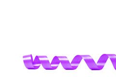 Violet satin ribbon. On white background. studio shot Royalty Free Stock Image