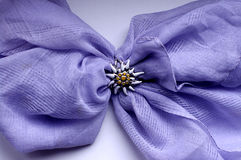Violet scarf with sun. Scarf with sun ornament on the white background Stock Images