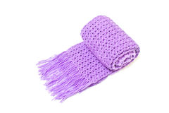 Violet Scarf Yarn Royalty Free Stock Photos
