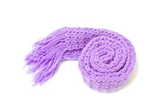 Violet Scarf Yarn Stock Photos