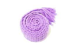 Violet Scarf Yarn Stock Photography