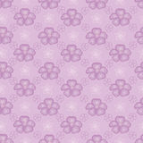 Violet seamless background with flowers Stock Images