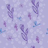 Violet Seamless-Blumenmuster - Illustration Stockfoto