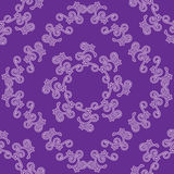 Violet seamless decorative vector pattern Stock Photography