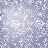 Violet seamless floral background. Vector Stock Photography