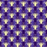 Violet seamless floral pattern (vector) Stock Image