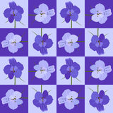 Violet seamless flower pattern. Vector seamless texture. Use for wallpaper, pattern fills, web page background Stock Photos
