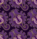 Violet seamless pattern Stock Image