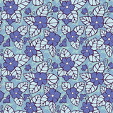 Violet seamless pattern. Vector flower background, eps10, contains transparency Stock Images