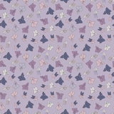 Violet seamless pattern. Vector flower background. contains no transparency Stock Photography