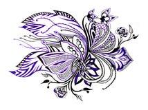 Violet seamless pattern Royalty Free Stock Photo