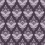 Violet seamless pattern with doodle ornaments Royalty Free Stock Photo