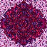Violet seamless pattern. Mandala background. Vector blossom illustration. Violet seamless pattern. Mandala background. Vector blossom illustration Royalty Free Stock Photography
