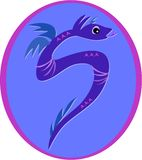 Violet Serpent Dragon Stock Image