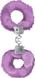 Violet sexual toy handcuffs Royalty Free Stock Photography