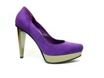 Violet shoe. Violet female shoe isolated on white background Stock Image