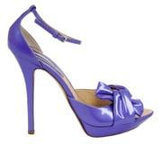Violet shoe Stock Photos