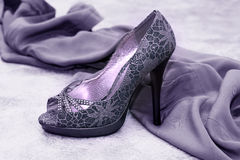 Violet shoes Royalty Free Stock Photo