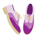 Violet shoes. Vector Stock Image