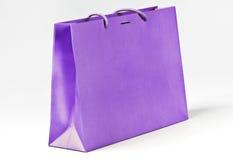 Violet shopping bag. Stock Photos