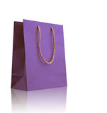 Violet shopping bag. Stock Photography