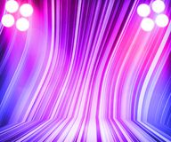 Violet Show Room Spotlights Stage Royalty Free Stock Photography