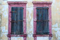 Violet Shutter. Shutters in front of violet window, detail from Cunda Ayvalik Royalty Free Stock Images