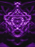 Violet sign. Sign of alien made of violet lines. Illustration made on computer Stock Photo