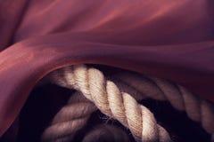 Violet silk drape, background Royalty Free Stock Image