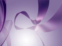 Violet silk ribbon stock photography