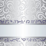 Violet & silver holiday vintage invitation design Stock Photos
