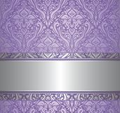 Violet and silver  luxury vintage wallpaper Royalty Free Stock Photo