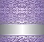 Violet and silver  luxury vintage wallpaper. Design Stock Images