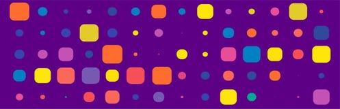 Violet Simple Backdrop med den färgrika fyrkantiga beståndsdelen royaltyfri illustrationer